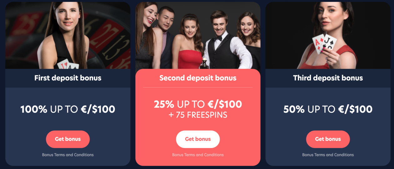 Live Casino Bonus first deposit