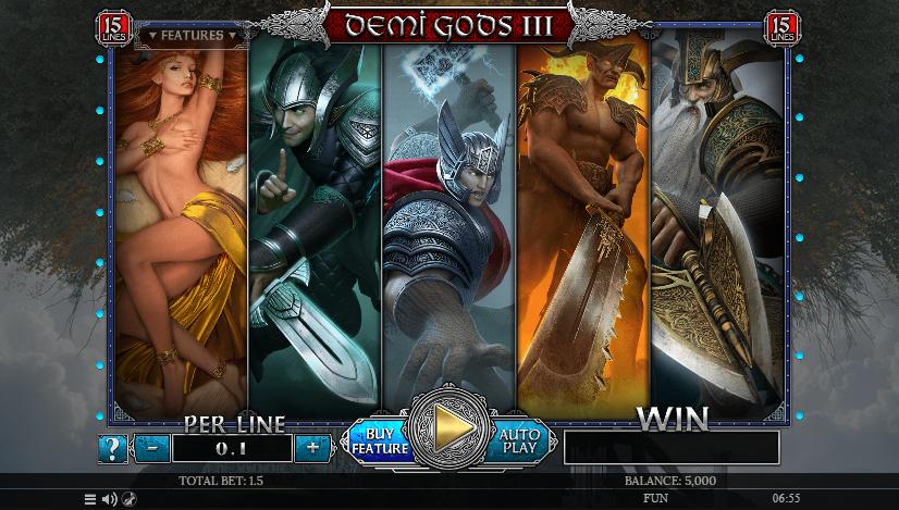 Demi Gods III 15 Lines (Spinomenal)